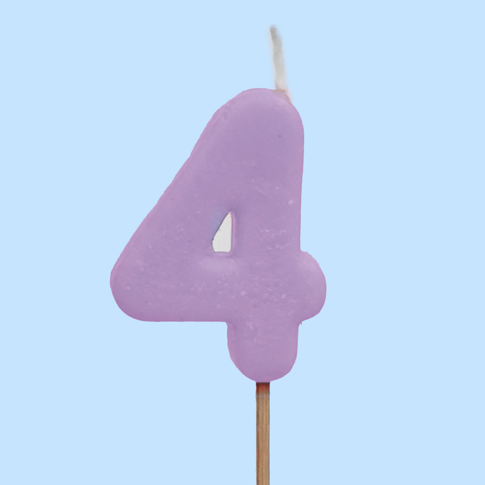 Numbered Candle 4