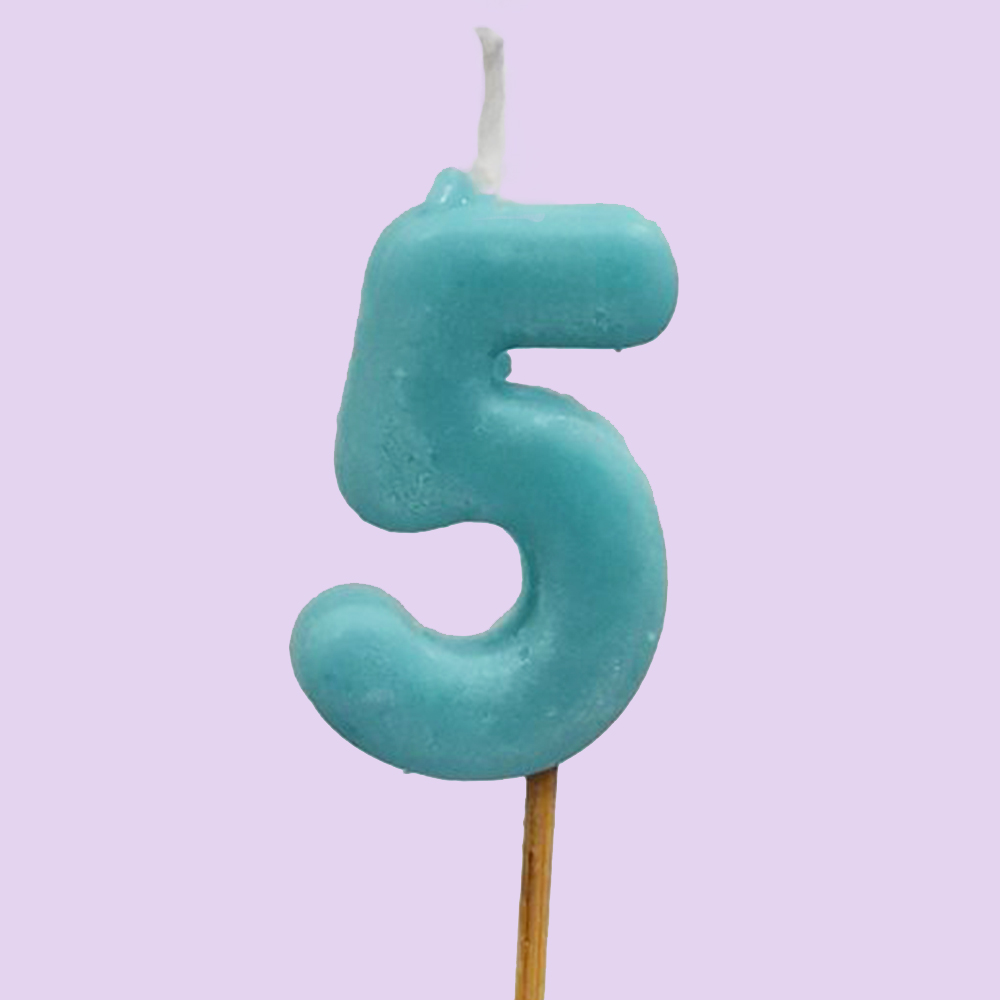 Numbered Candle 5