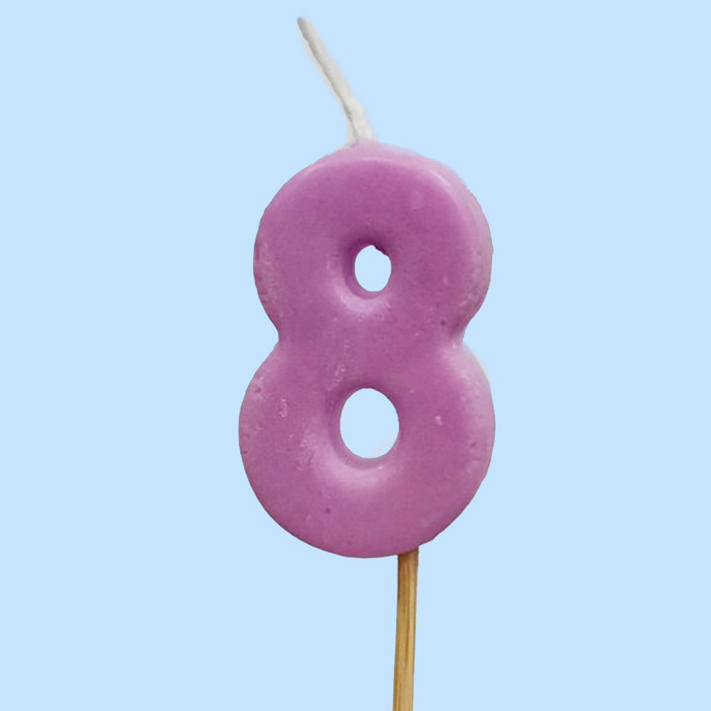 Numbered Candle 8