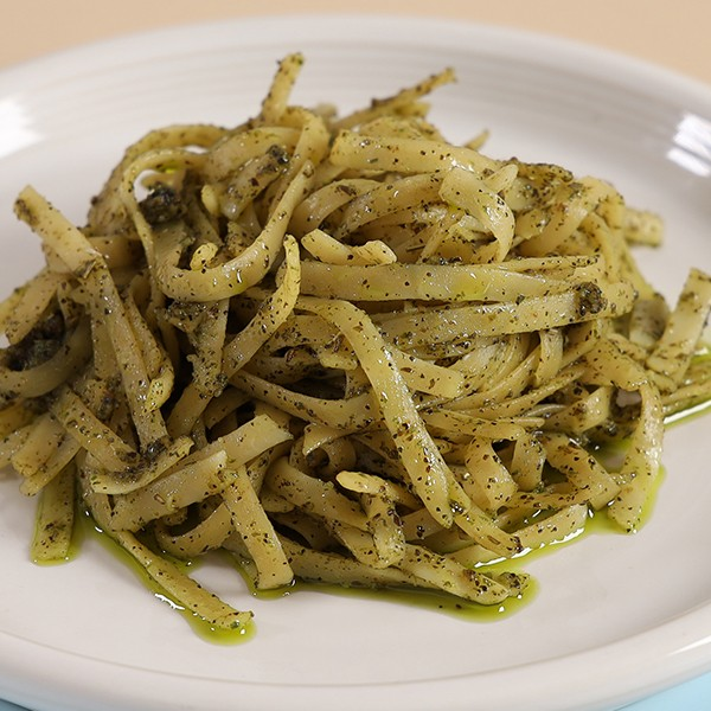 Linguine in Pesto Sauce